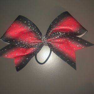 Accessories - Red & Black Sparkle Bow